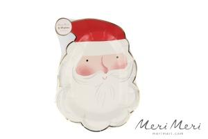 Meri Meri Pappteller Weihnachtsmann, gestanzt, 8 Stk.