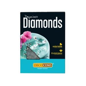 Essbare Diamanten, 16 Stück, Ø ca. 1 cm