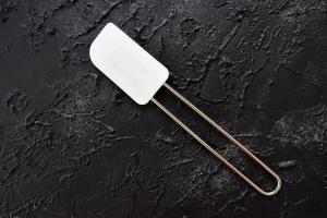 Stielschaber 26 cm aus Silikon