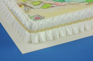 Pappunterlagen beschichtet rechteckig 42x32cm, 10 Stück