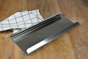 Grundplatte für Backröhren 37 x 16 cm, Edelstahl