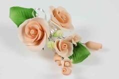 Zuckerrose apricot, 12 cm