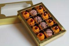 Pralinen-Schachtel 12er / gold (hochglänzend)