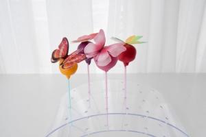 Cake Pop Ständer, gebogen, Acryl, 29x16x9 cm