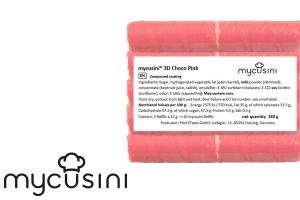 Lebensmitteldrucker Nachfüllpack, Fettglasur Pink, 5 Stk.