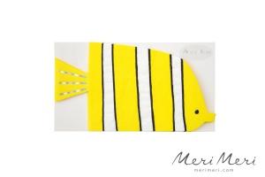 Meri Meri Papierservietten Unterwasser Fisch, gestanzt,