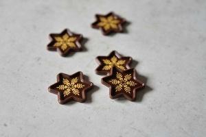Aufleger für Sternhalbschalen Zartbitter  56 Stück