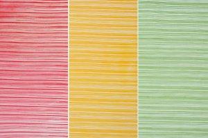 Motivfolie -Streifen 3er Set, rot, gelb,grün - 25 x 32 cm