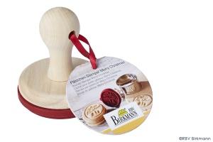 Cookie Stempel/Keks Stempel Merry Christmas, Holz/Silikon