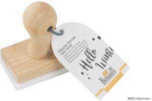 Cookie Stempel/Keks Stempel Hello Winter, Holz/Kunststoff