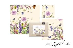 Bienenwachstuch, bunte Blumenwiese, Starter Set,
