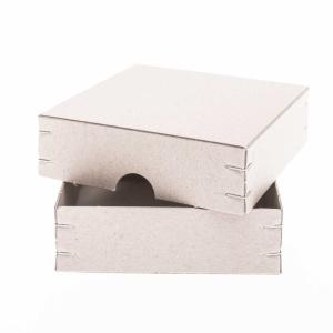 Aufbewahrungsbox Quadrat, Recyclingkarton, 10,5x10,5x3 cm