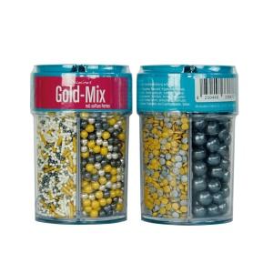 Streusel Mix Gold Mix, bunt, 4-tlg., 90 g