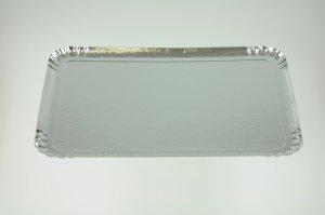 Servier- und Tortentablett silberfarben 42 x 28 cm, 5 Stück