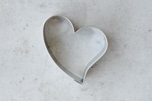 Ausstecher Herz mit Schwung 5,5 cm