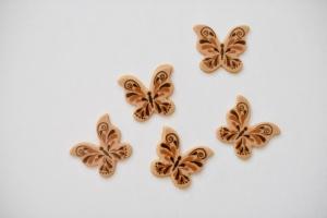 Schmetterlinge aus blonder Schokolade 37 x 32mm, 28 Stück