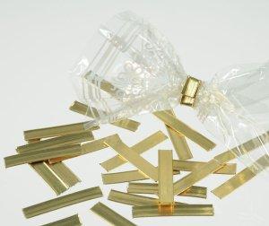 Verschluss-Clips gold für die Gebäckbeutel, 25 Stück