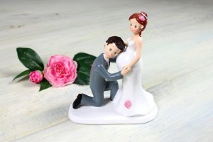 Brautpaar  -Elternglück-  ca. 17 cm