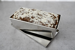 Vollkorn-Backform aus Chromstahl, 25 cm
