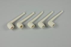 Weckmannpfeifen, 5 Stück, ca. 9 cm lang