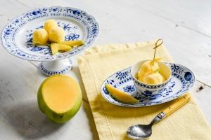 Eispulver Mango Yuzu zuckerreduziert 140 g