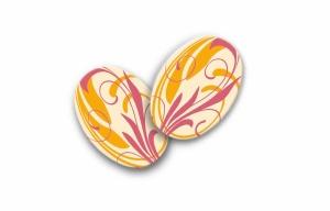 Schoko-Aufleger oval, Zartbitter  33 x 24 mm, 24 Stück