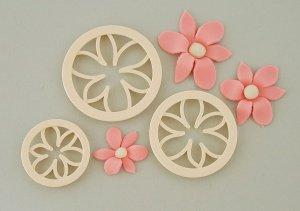 Ausstecher-Set Clematisblüten, 3-tlg. , 5,2cm+6,6cm+8,2cm