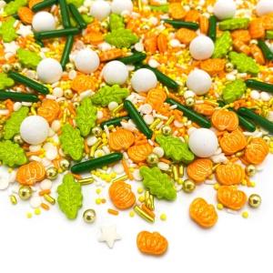 Streusel Mix Farmers Market, grün/orange/weiß, 90 g