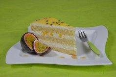 Backset: Pfirsich Maracujasahne-Torte