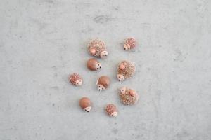 Zuckerdekor Igel-Set, sortiert, 32 Stück