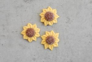 Zuckerblumen Sonnenblumen, gelb, 12 Stück
