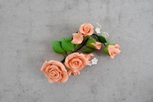 Zucker-Rosen pfirsichfarben, 14,5 cm