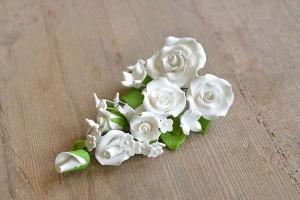 Zucker-Rosen weiß, 20 cm