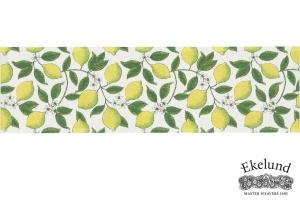 Tischläufer, Zitrone, 100 % Bio Baumwolle, 35x120 cm