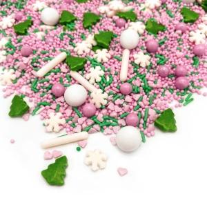 Streusel Mix Pink Wonderland, rosa/grün/weiß, 90 g