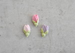 Zuckerblumen Rosenknospen, pastell, 36 Stück