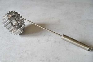Rosenküchliform / -eisen aus Edelstahl Ø 12 cm