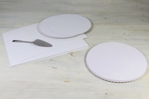 Tortenpappscheiben beschichtet rund / Ø 30 cm, 20 Stück