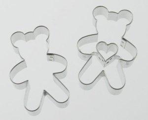 Teddybär mit Herz - 2-teiliges Ausstecherset