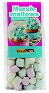 Marshmallow mini, pastell Glitzer, 30 g