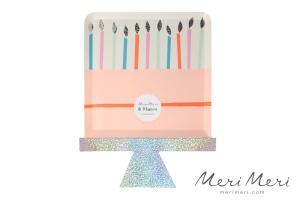 Meri Meri Pappteller Happy Birthday, gestanzt, 8 Stk.