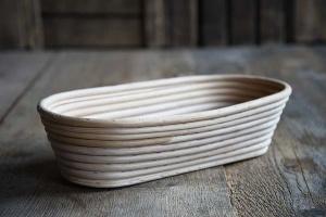 Gärkorb lang aus Peddigrohr für Brote bis 1000 g