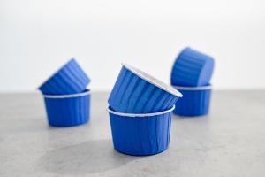 CupCake-Becher, blau, 24 Stck., Ø 6 cm, Höhe 4 cm