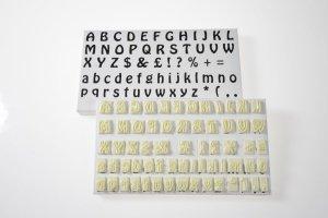 Alphabet Schablonen-Set 64-tlg. aus Kunststoff