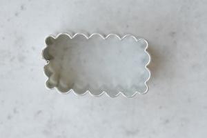 Ausstecher Stangerl gewellt, Edelstahl, 4,2 x 2,3 cm