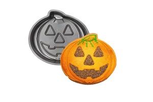 Backform Halloween Kürbis, Aluminium, Ø 30 cm, Höhe 5 cm