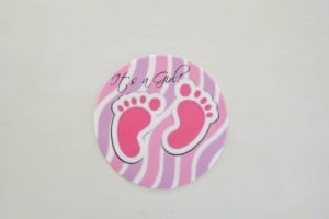 Baby Girl, Zucker-Aufleger, rosa, rund Ø 10 cm