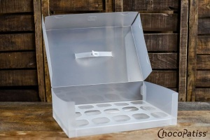Cupcake-Box faltbar matt 37x25x11 cm