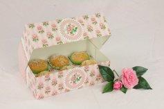 Muffin-Box Rosengarten mit Einsatz für 6 Muffins, 2 Stück