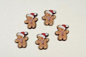 Nikolausbär, dunkle Schokolade 3 x 3,8cm, 24 Stück